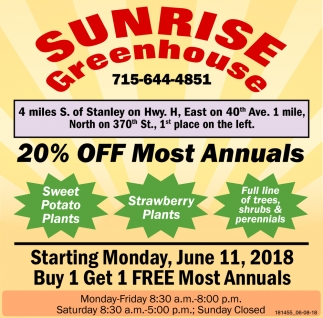 20% OFF Most Annuals