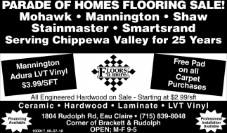 Parade of Homes Flooring Sale!