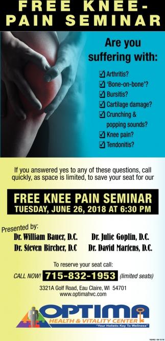 FREE Knee - Pain Seminar