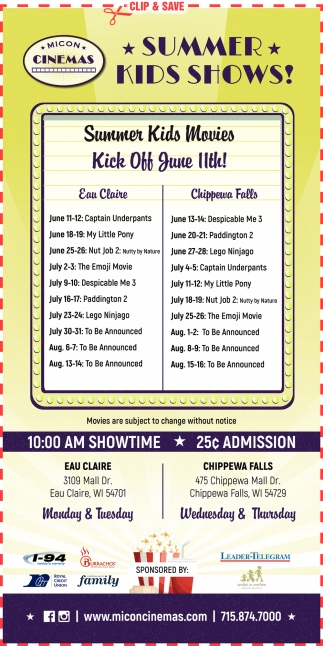 Summer Kids Shows!