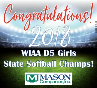Congratulations! 2018 WIAA D5 Girls