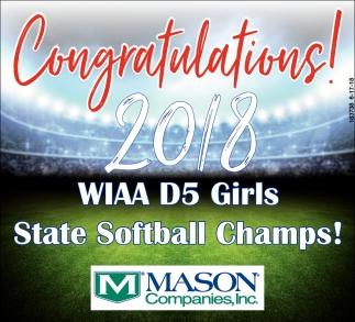 Congratulations! 2018 WIAA D5 Girls