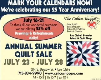 Mark Your Calendar Now!