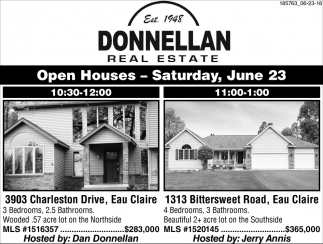 Open House Saturday, June 23