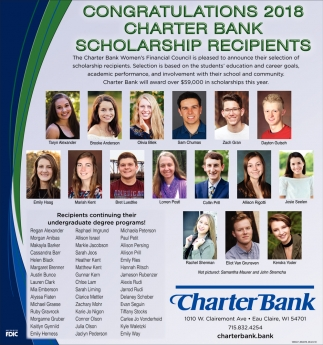 Congratulacions 2018 Charter Bank Scholarship Recipients
