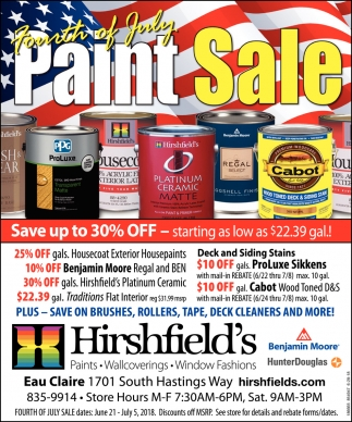 Fourth of July Paint Sale