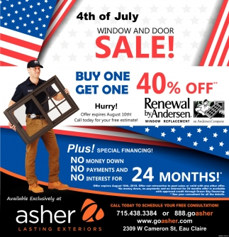4th of July Window and Door Sale!