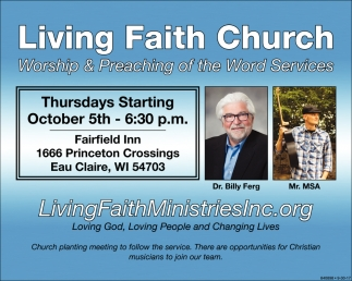 Living Faith Ministries Inc