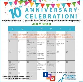 10th Anniversary Celebration!