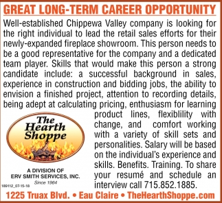 Great Long-Term Career Opportunity