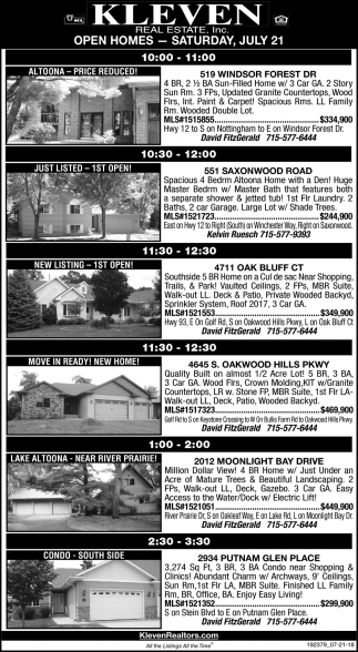 Open Homes - Saturday, July 21