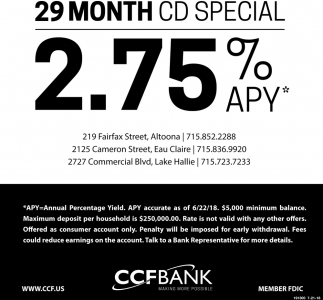 29 Month CD Special
