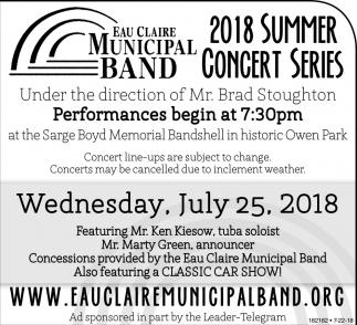 2018 Summer Concert Series