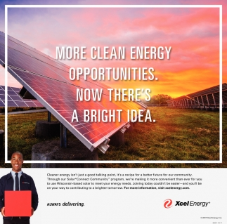 More Clean Enery Opportunities. Now There's A Bright Idea