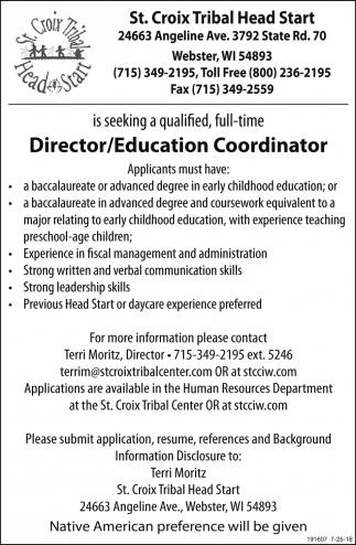 Director/Education Coordinator