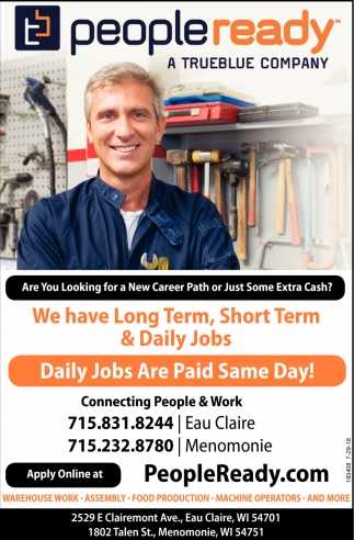 We Have Long Term, Short Term & Daily jobs