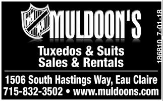 Tuxedos & Suits Sales & Rentals