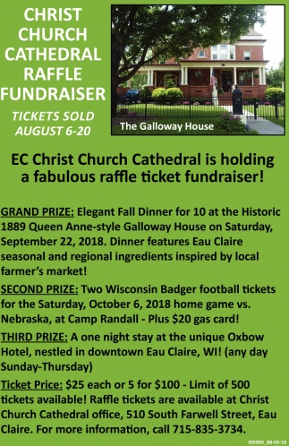 Christ Church Cathedral Raffle Fundraiser