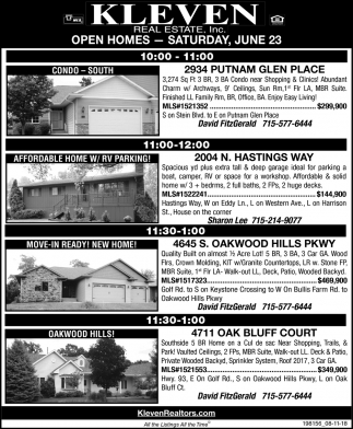 Open Homes - Saturday, July 28