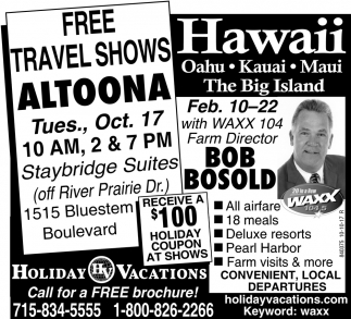 Free Travel Shows