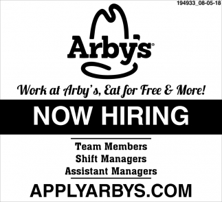 Work at Arby's, Eat for Free & More!