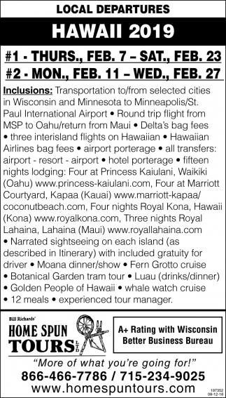 Local Departures