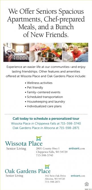 We Offer Seniors Apartments
