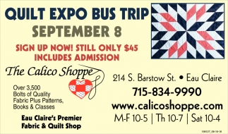 Quilt Expo Bus Trip