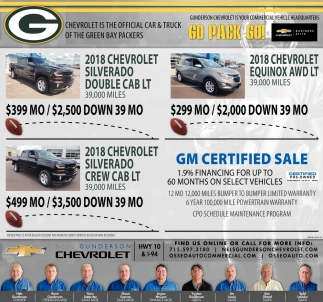 GM Certified Sale