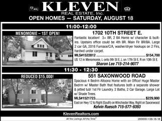 Open Homes - Saturday, August 18