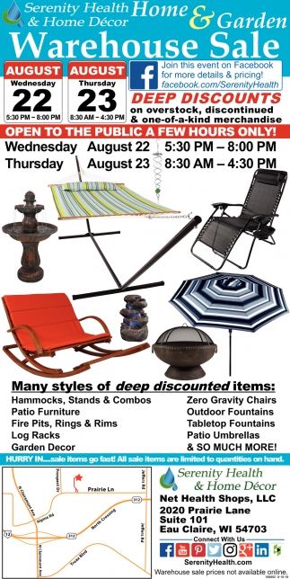 Home & Garden Warehouse Sale