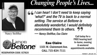 Changing People's Lives, Larson Beltone Hearing Aids Center