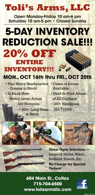20% OFF Entire Inventory!