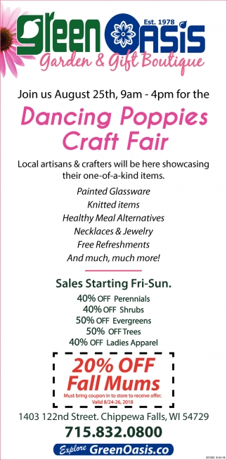 Dancing Poppies Craft Sale