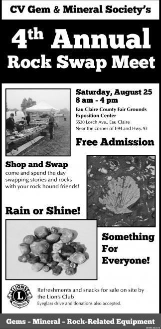 4th Annual Rock Swap Meet