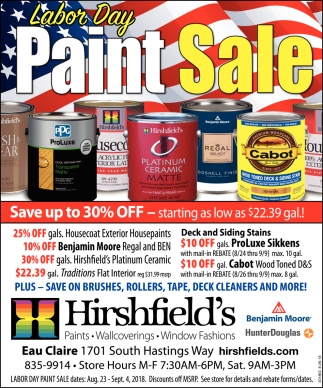 Labor Day Paint Sale