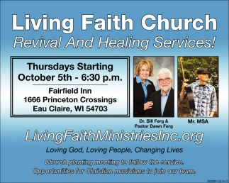 Revival And Healing Services!