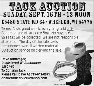 Tack Auction
