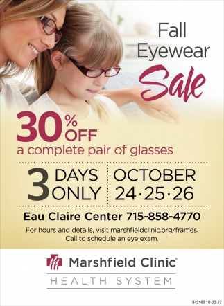 Fall Eyewear Sale