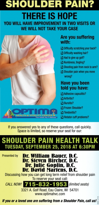 Shoulder Pain?