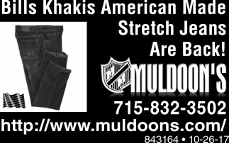Bill Khakis American Made Stretch Jeans Are Back!