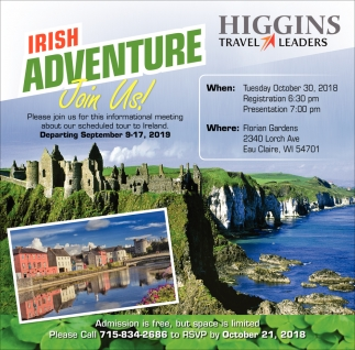 Irish Adventure Join Us!