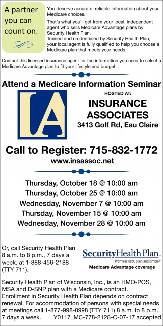 Atted a Medicare Information Seminar