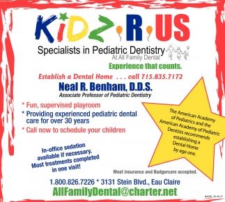 Specialist in Pediatric Dentistry