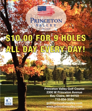 $10.00 for 9 Holes