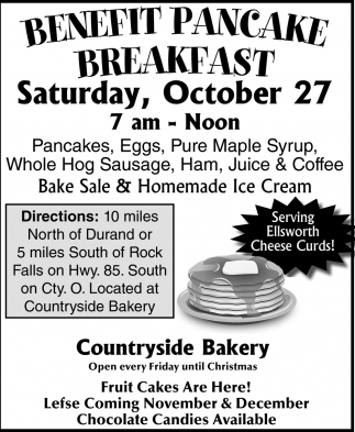 Benefit Pancake Breakfast