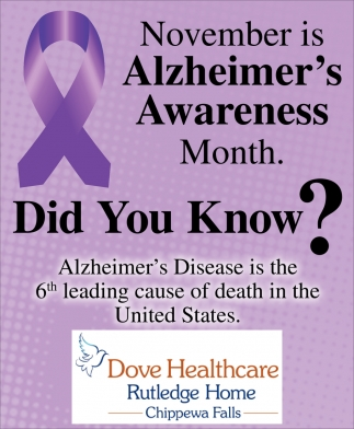 November is Alzhaimer's Awareness Month
