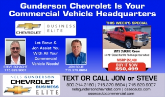 Gunderon Chevroletis your Commercial Vehicle Headquarters