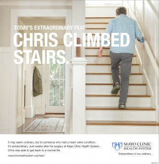 Chris Climbed Stairs