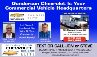 Gunderon Chevrolet is your Commercial Vehicle Headquarters